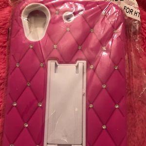 HTC Desire 626 Pink Bling Case